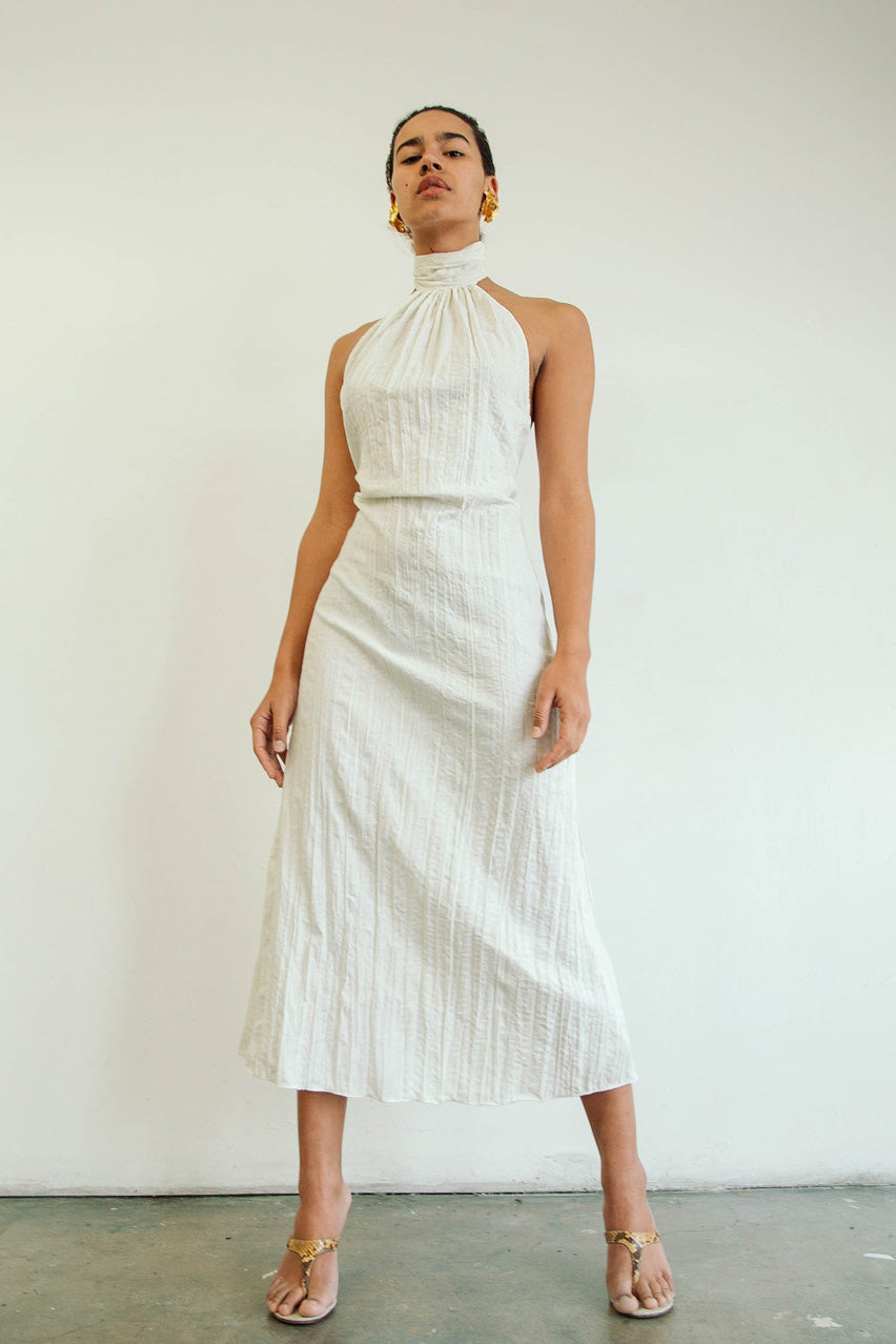 The Kaito Dress in Off White