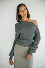 Load image into Gallery viewer, The Leon Off Shoulder in Charcoal