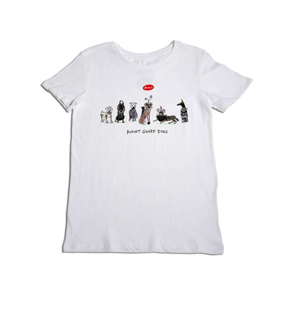 The Avant Guard Dogs Tee in White