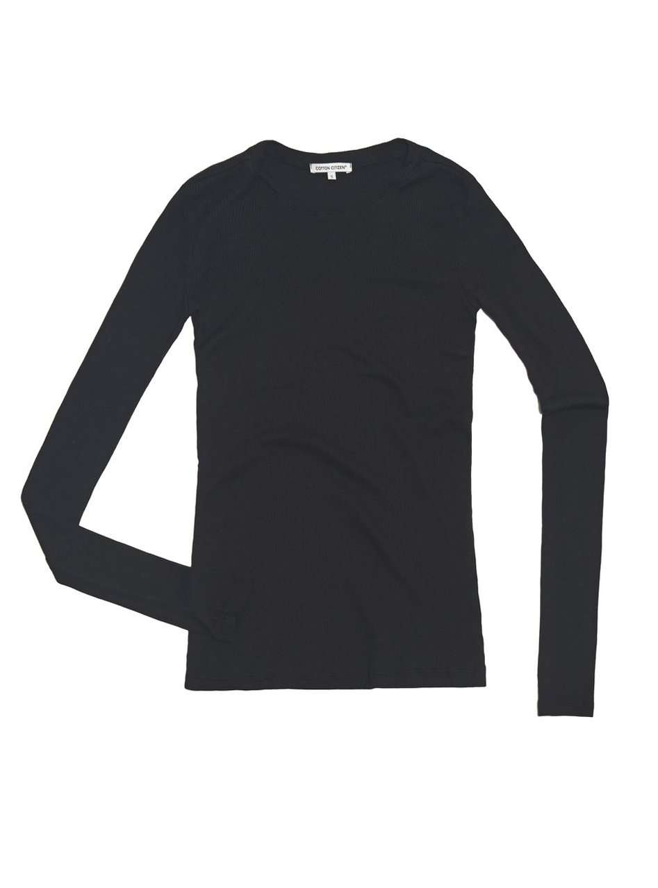The Venice L/S Tee in Black