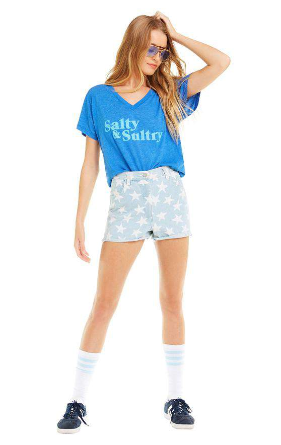 The Salty & Sultry Tee in Blue