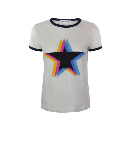 The Triple Star Tee in White