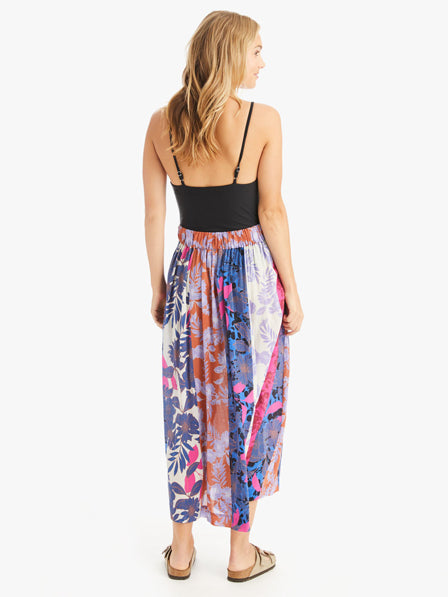 The Teagan Printed Skirt in Pinks
