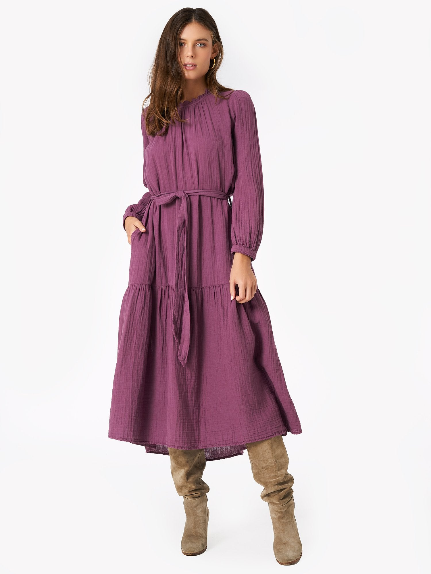 The Luna Dress in Smoky Mauve