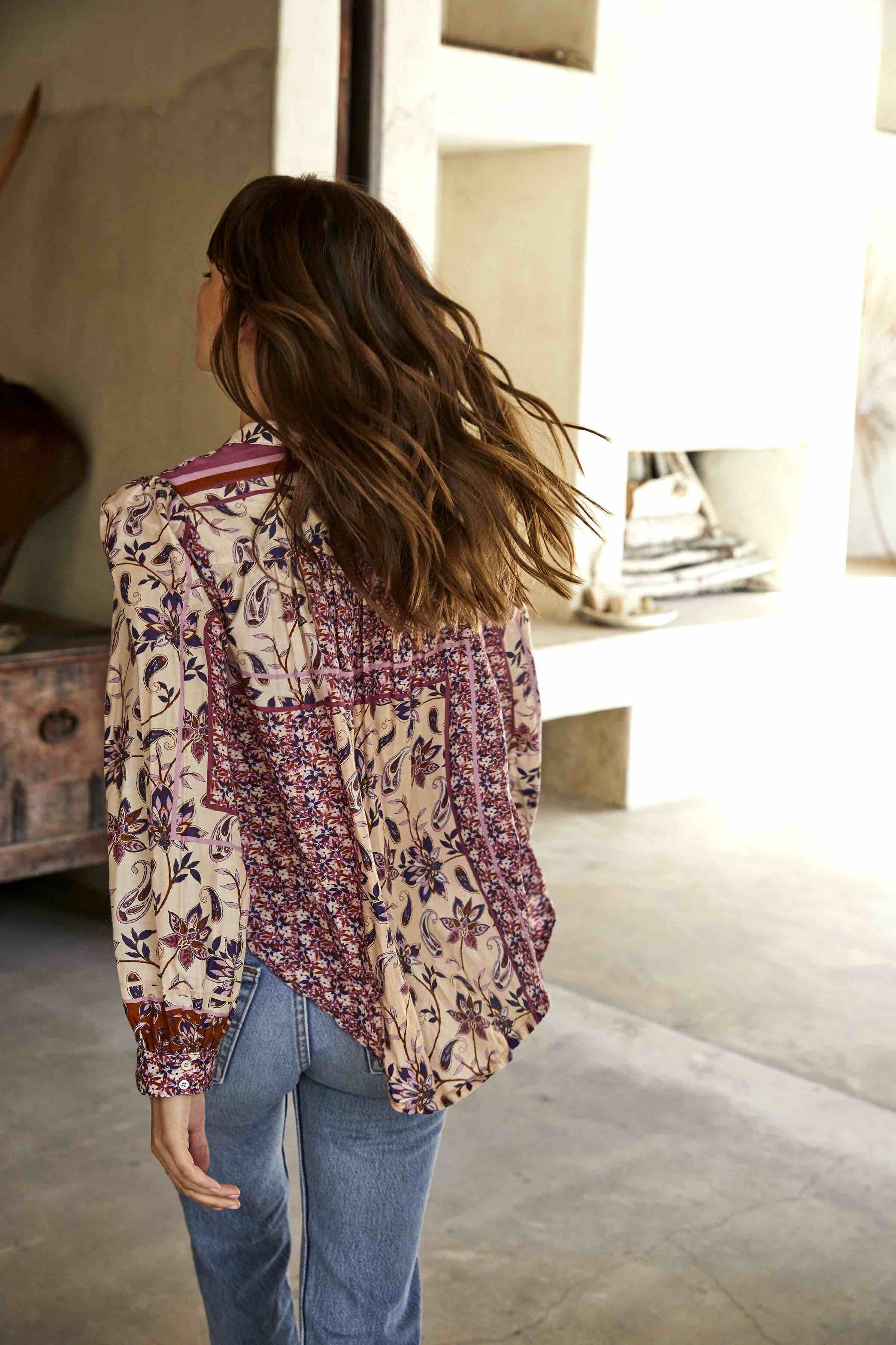 The Kiera Blouse in Trail