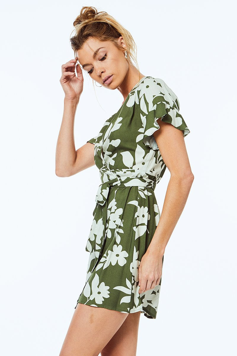 The Kate Wrap Dress in Willow