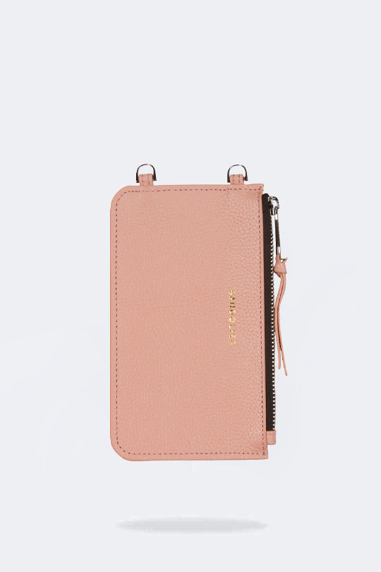 The Emma Pouch in Blush/Silver