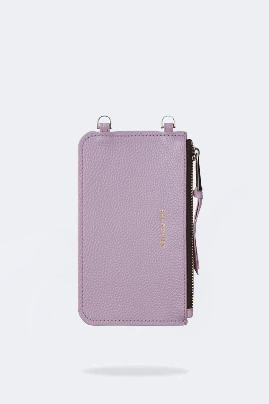 The Emma Pouch in Lilac/Silver