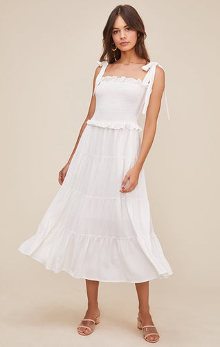 The Promenade Dress in White