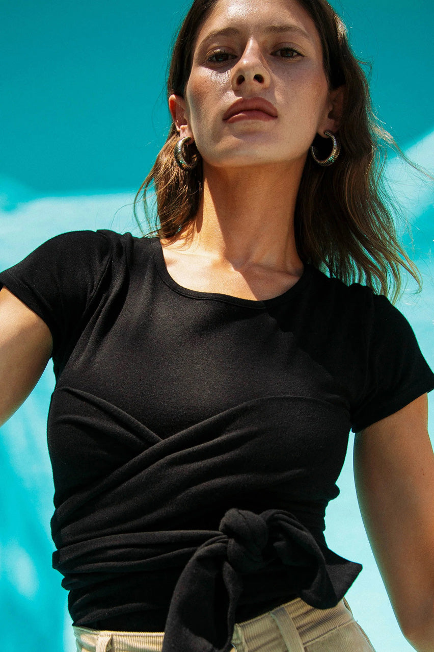 The Jeanne Top in Black