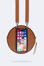Load image into Gallery viewer, The Large Round Pouch in Sienna/Silver