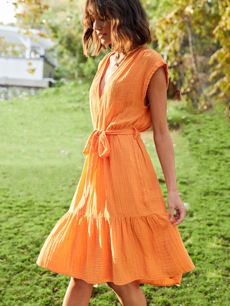 The Maren Dress in Orangina