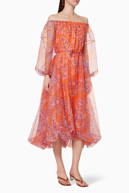 The Fleur Dress in Monarch Paisley
