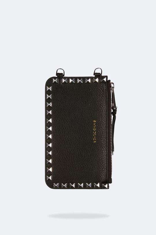 The Sarah Pouch in Black Silver