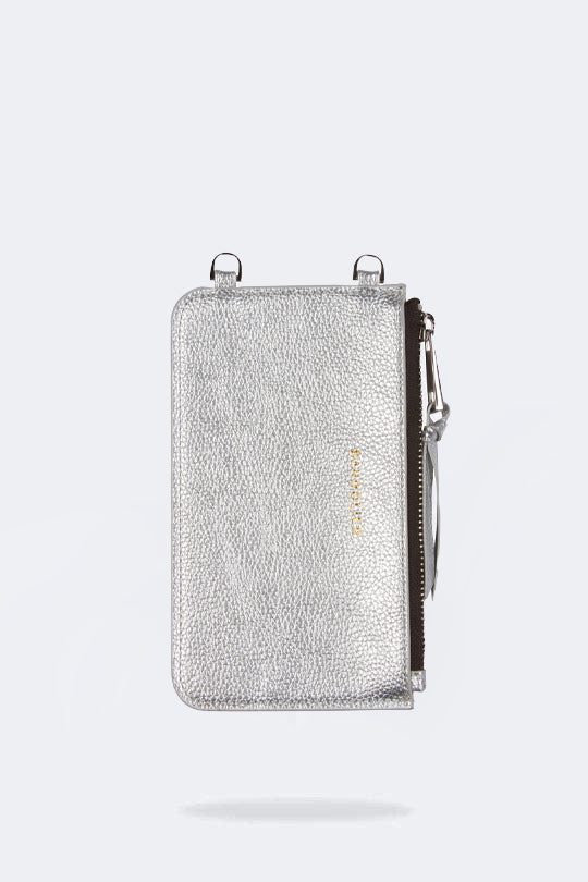 The Emma Pouch in Metallic/Silver