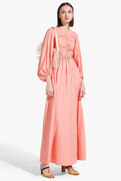 The Tangier Dress in Coral