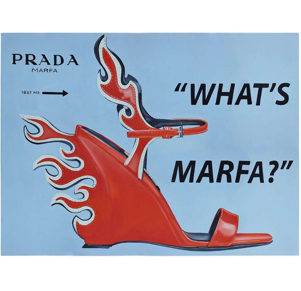 "The ""Whats Marfa"" Kaplan Twins Print"