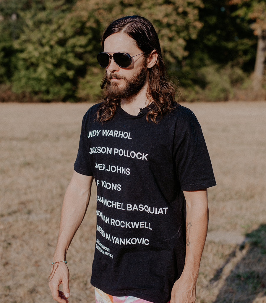 Jared Leto Collection 7 Famous American Artists Tee