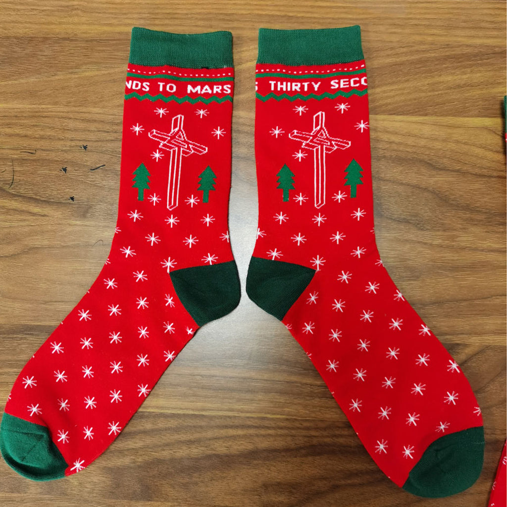 Thirty Seconds to Mars Holiday Socks