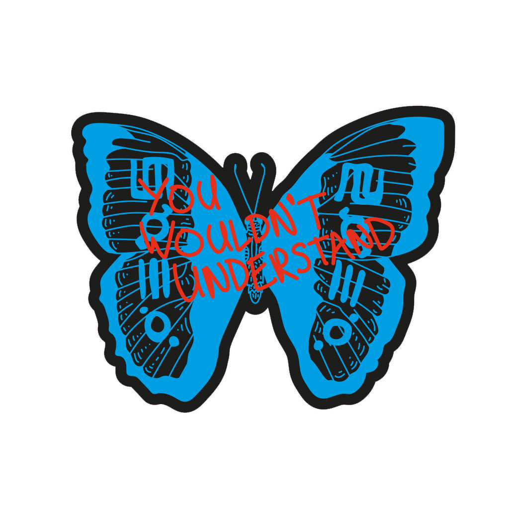 Camp Mars 2019 Butterfly Glyph Sticker