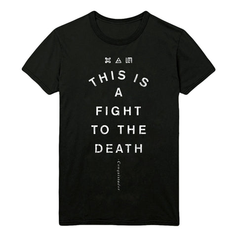 Black Thirty Seconds To Mars Conquistador Lyric T-Shirt (Unisex Fit)(Limited Edition)