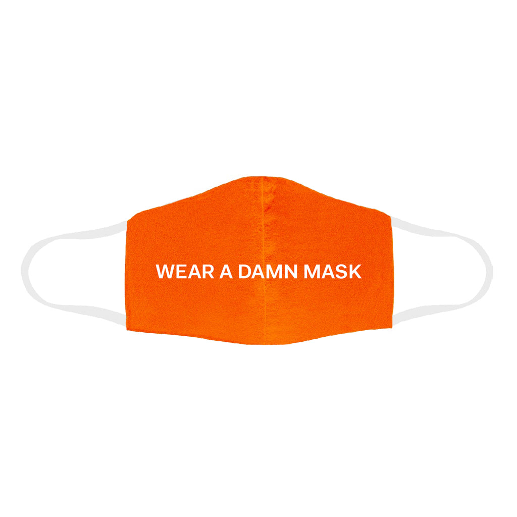 Wear A Damn Mask-Orange