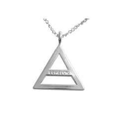 Echelon Triad Silver Plated Necklace