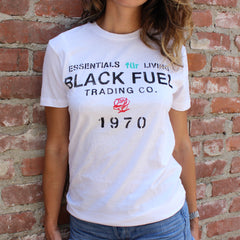 Black Fuel 1970 T-Shirt - White
