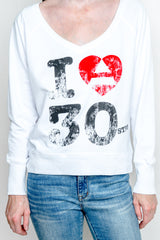 I Heart 30STM Lightweight Ladies Sweatshirt