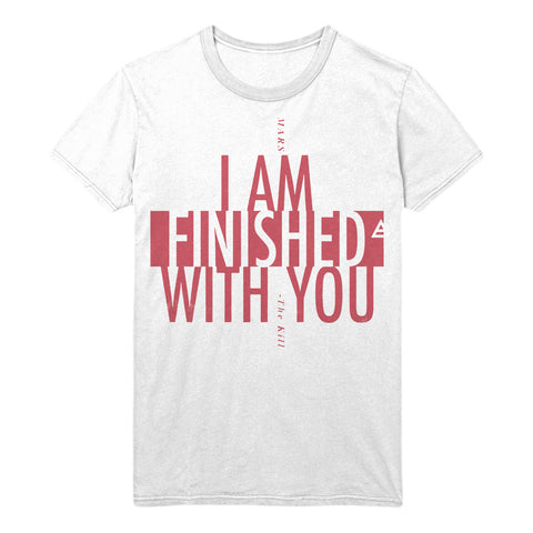 White Thirty Seconds To Mars The Kill Lyric T-Shirt (Unisex Fit)(Limited Edition)