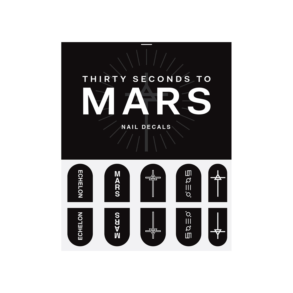 Mars Nail Decals