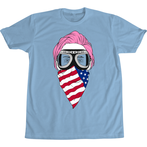 Jared Leto Pink Hair Tee Light Blue