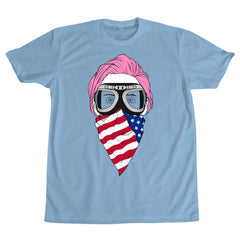 Pink Hair Jared T-Shirt - Light Blue