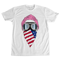 Pink Hair Jared T-Shirt - White