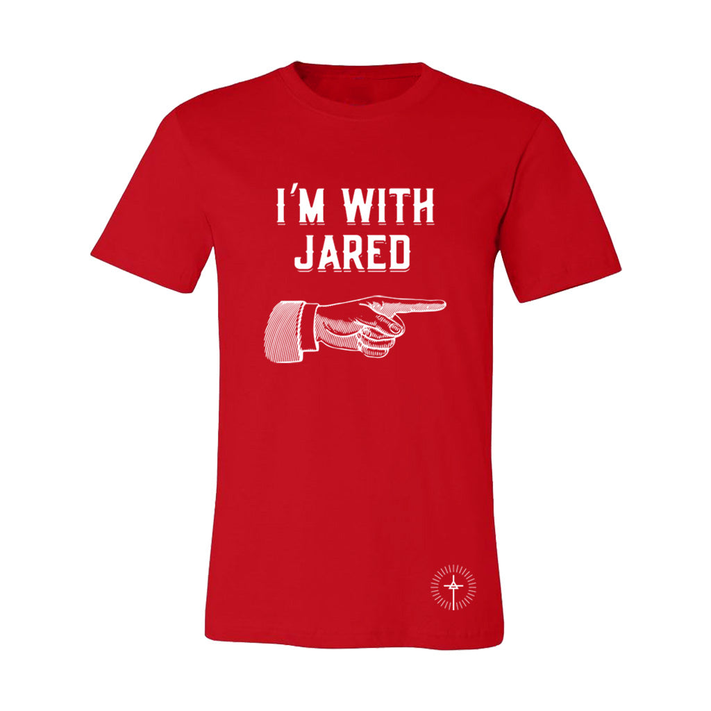 """I'm with Jared"" Red Tee"