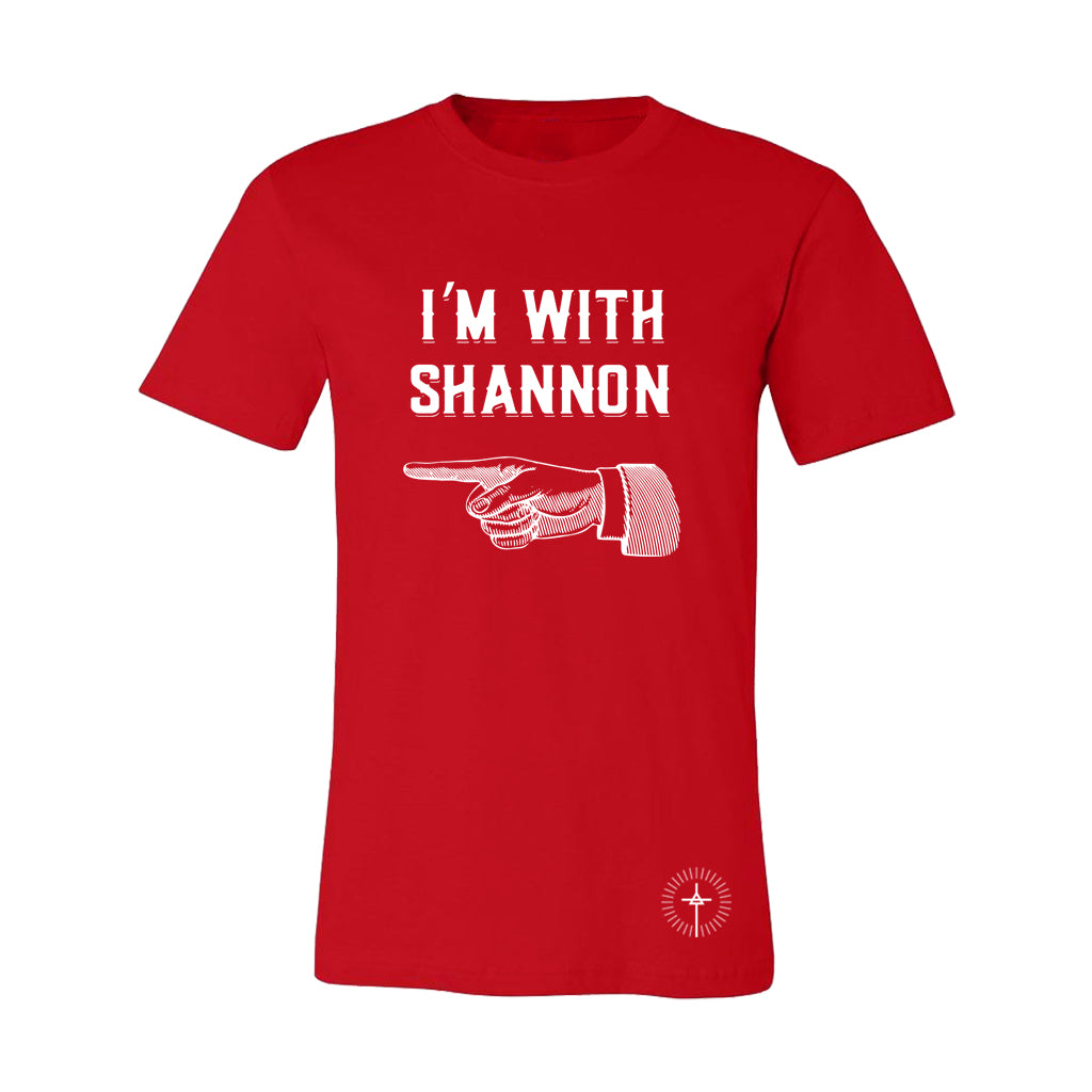 """I'm with Shannon"" Red Tee"