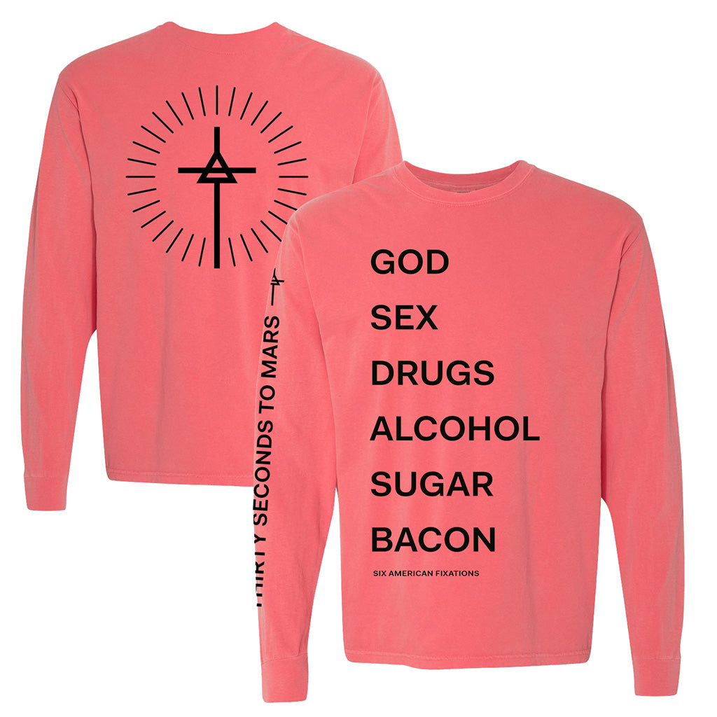 God Sex Drugs New Long Sleeve (Pre-Order)