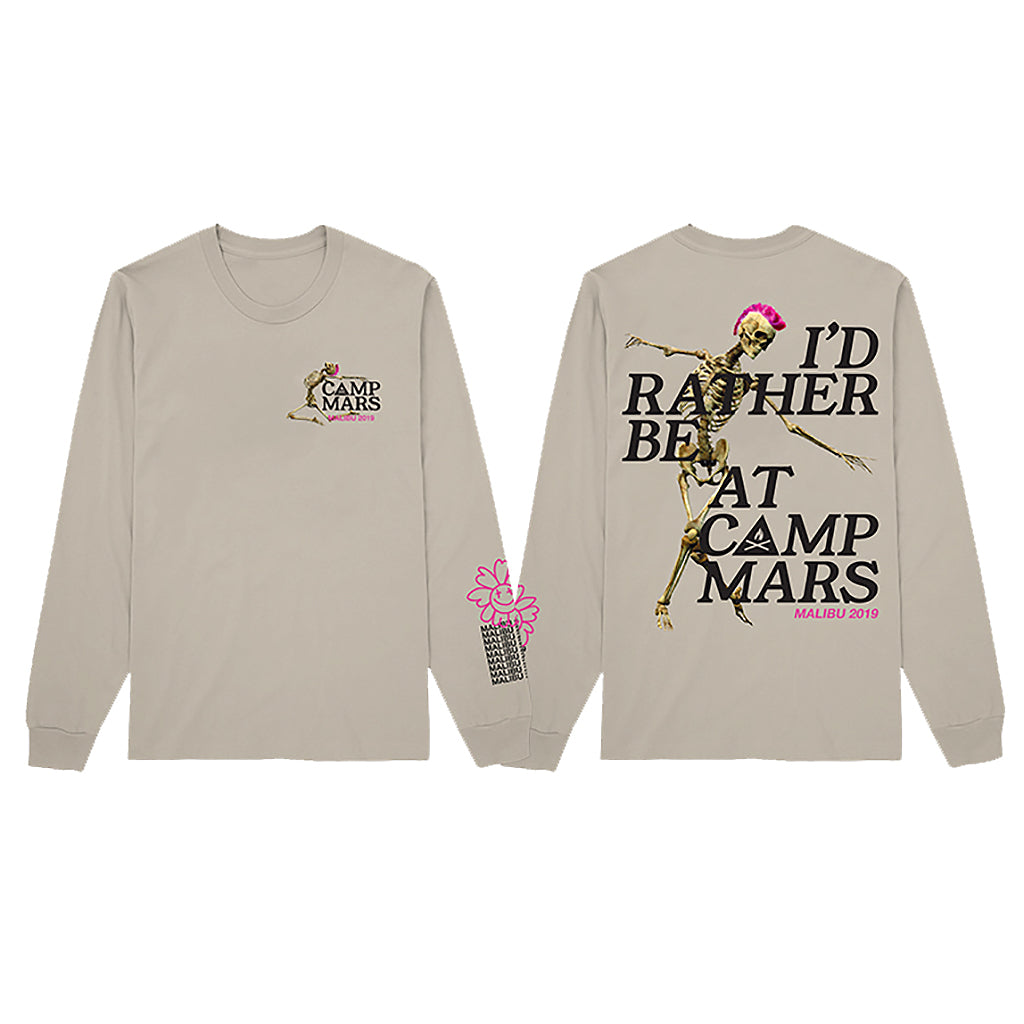 Camp Mars 2019 Skeleton Sand Long Sleeve