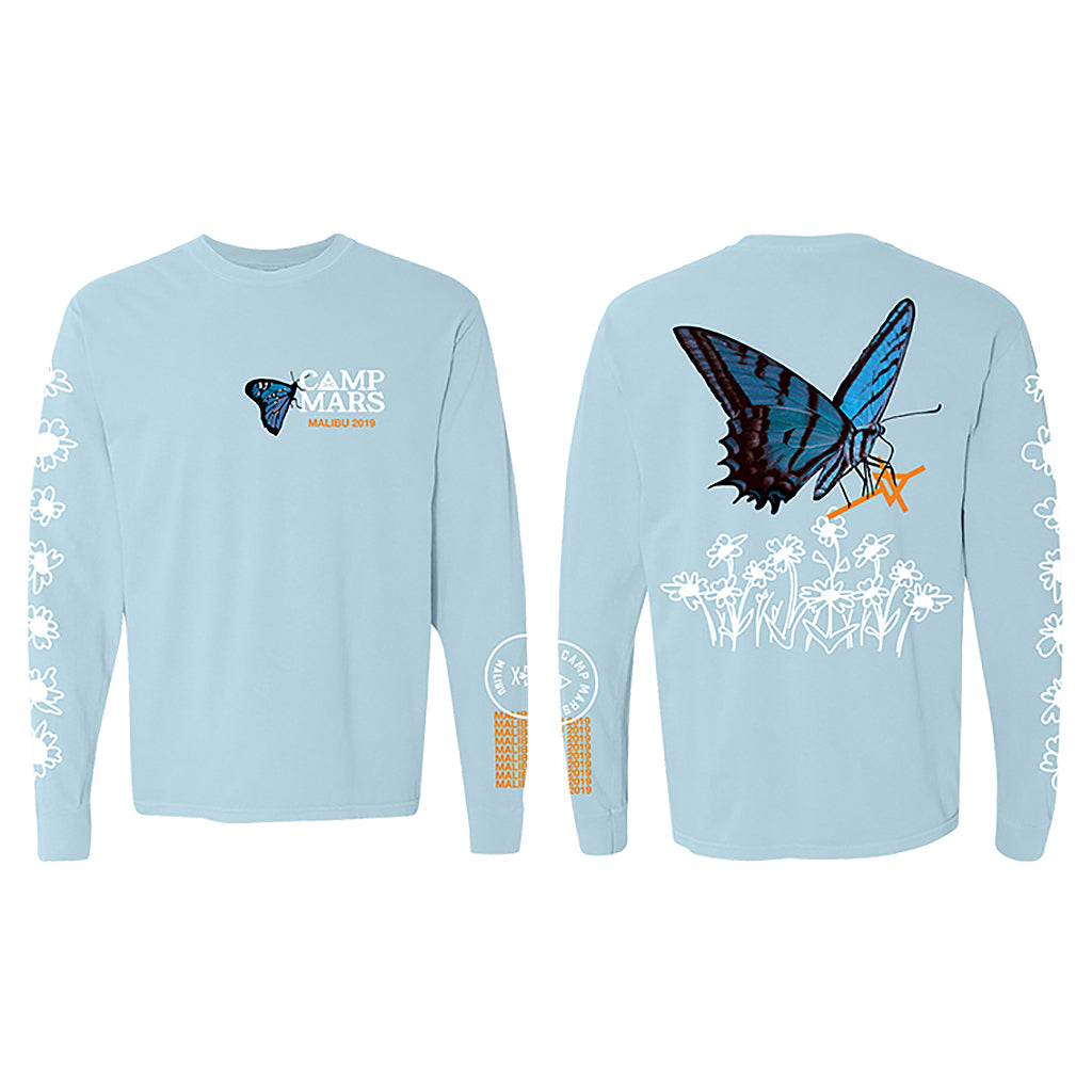 Camp Mars 2019 Butterfly Chambray Long Sleeve