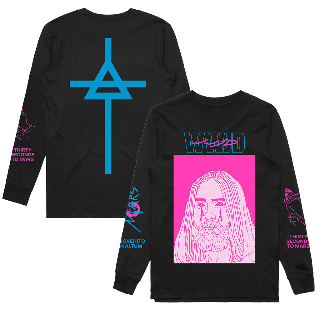 WWJD 2.0 Black Long Sleeve + Limited Sticker (Pre-Order)