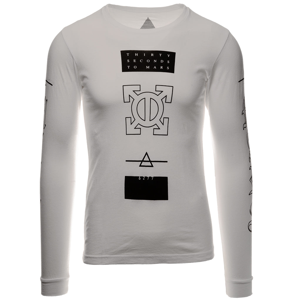 Epsilon White Long Sleeve Tee