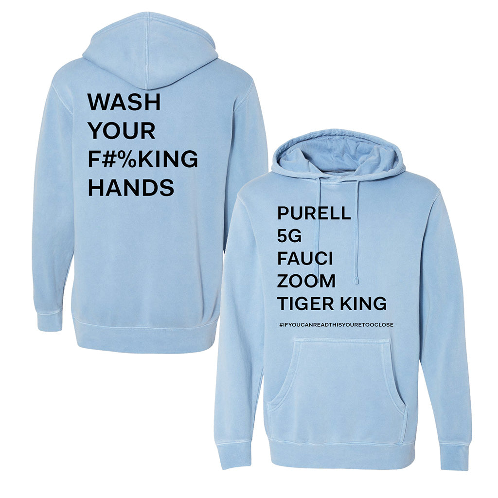 Wash Your Hands 2020 List Hoodie