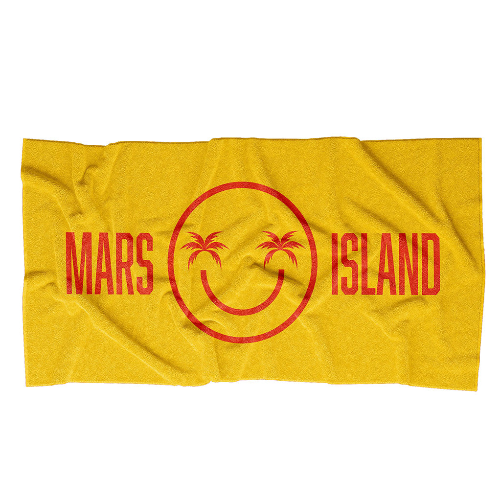 Mars Island Beach Towel