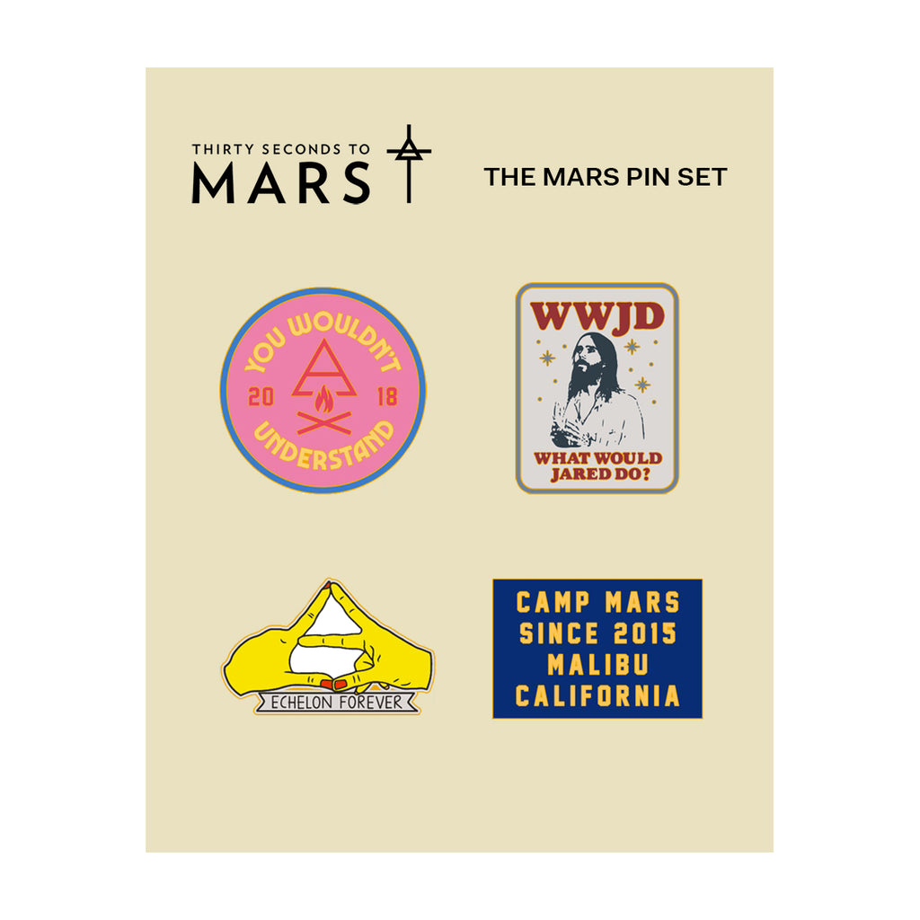 The Mars Enamel Pin Set