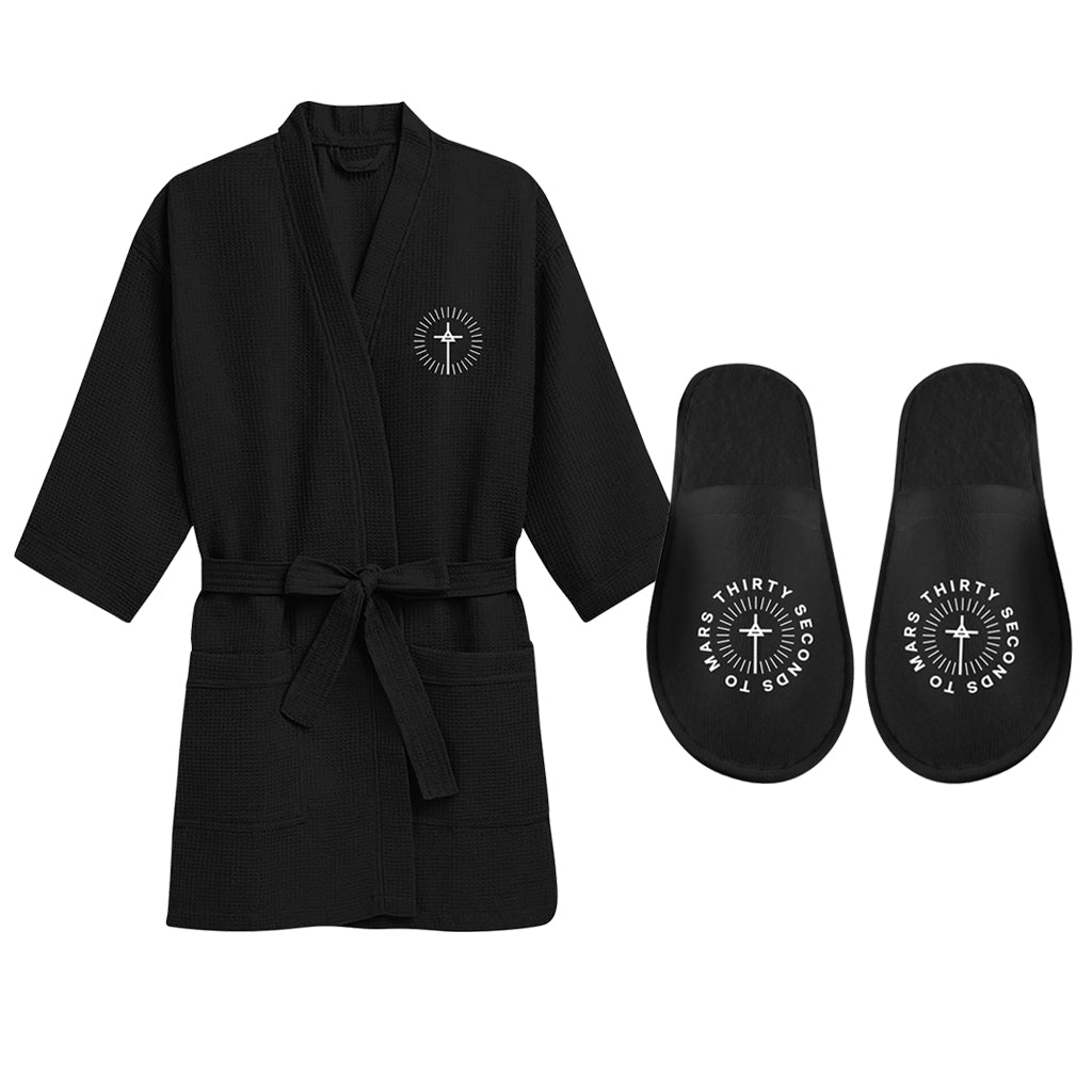 Circular Triad Robe and Slipper Set