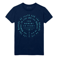 Navy Thirty Seconds To Mars This Is War Lyric T-Shirt (Unisex Fit)(Limited Edition)