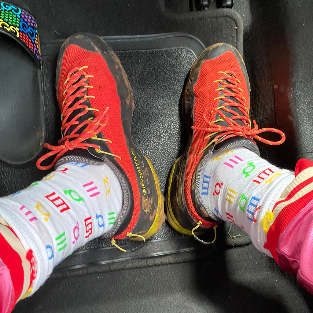 Rainbow Glyph Socks