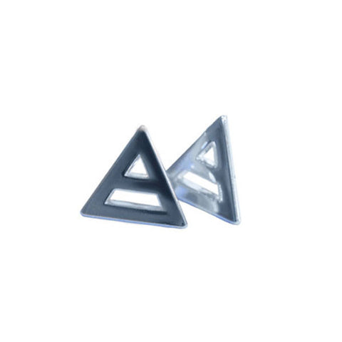 Mars Triad Silver Plated Earrings