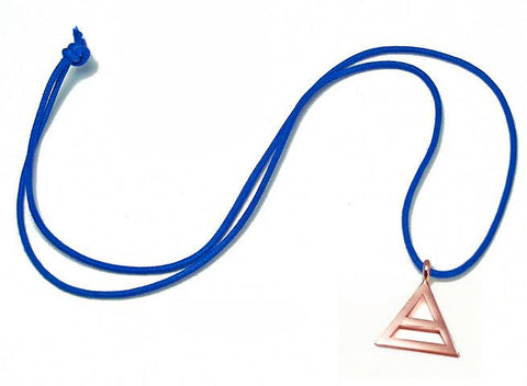 Rose Gold Plated Triad Pewter Necklace
