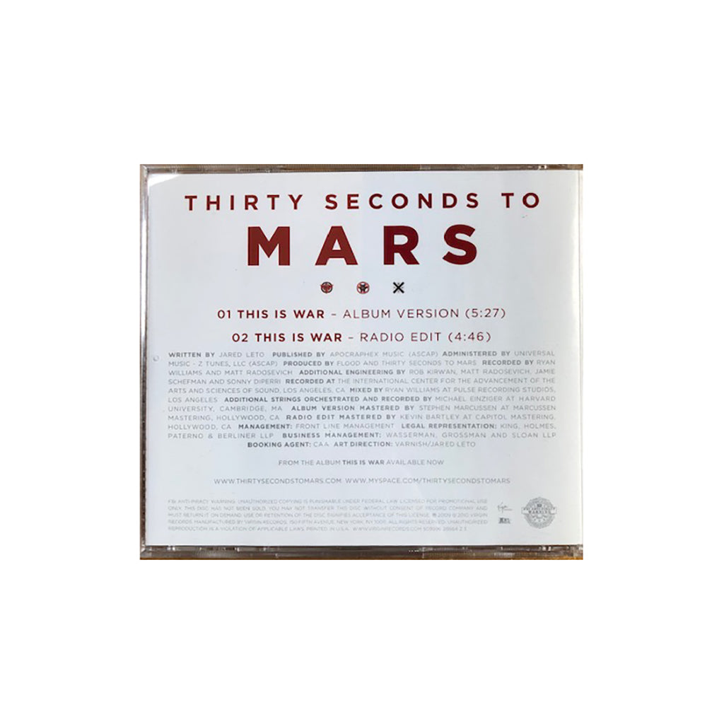 This Is War Single CD (SIGNED)